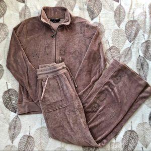 BCBG MaxAzria Track Suit Tan/Beige Size Small